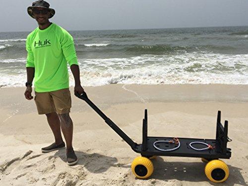 3e349ad784d7 Beach Wagon Cart for Sand with Wheels All Terrain Haul Cooler ...