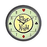 CafePress - Retro Poker Wall Clock - Unique Decorative 10'' Wall Clock
