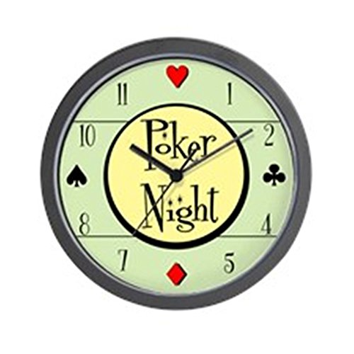 "CafePress - Retro Poker Wall Clock - Unique Decorative 10"" Wall Clock"