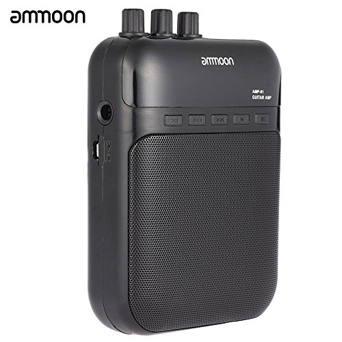 Aroma AG-03M 5W Portable Multifunction Guitar Amp Recorder Speaker Compact with TF Card Slot (Guitar Recorder)