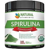 Premium USDA Organic Spirulina Powder - Highest Quality of Blue Green Algae from California & Hawaii – 100% Vegetarian & Vegan, Non-GMO, Non-Irradiated – The Best Green Superfood for Smoothies!