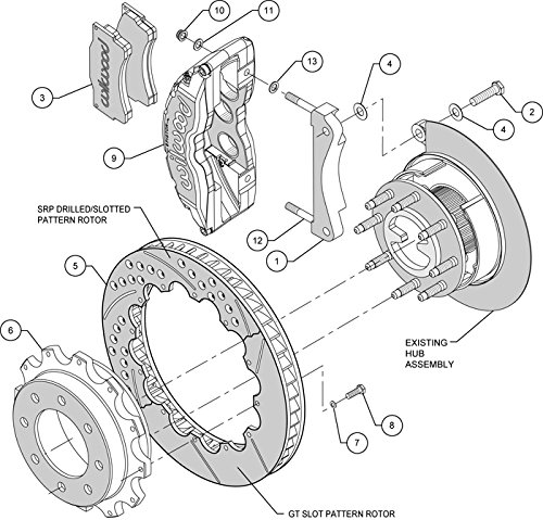 Amazon Com New Wilwood Front Disc Brake Kit 16 Drilled Rotors