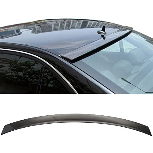 Roof Spoiler Fits Pre-painted 2008-2014 Benz C-Class W204 | 4Dr 4Door OEM Painted #040 Black - Other Color Available Rear Trunk Tail Spoiler Wing by IKON MOTORSPORTS | 2009 2010 2011 2012 2013