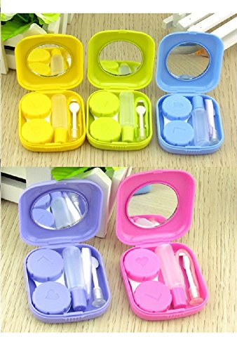 Lunar Baby 2 PCS Mini Travel Contact Lens - Mini Contact Lens Case