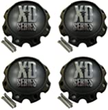 4 x KMC XD Series 441 796 797 798 800 801 8 Lug Flat Black Center Cap 1079L170