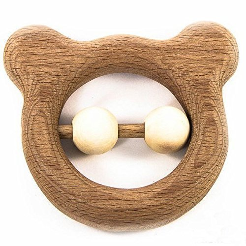 Wooden Teething Bear Toy - Wooden Rattle Toy -Teddy bear - Montessori Wooden  Toy Teething toys for babies - Buy Online in Oman. a449fb35f8d4