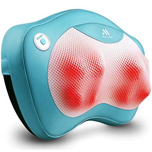 Back Massager Neck Massager with Heat - Christmas Gifts for Girlfriend, Boyfriend, Sister, Brother, Parents- Perfect Presents Idea for Valentines Day, Mothers Day, Fathers Day, Thanksgiving Day - Gift (Gift Birthday Girlfriend Good For)