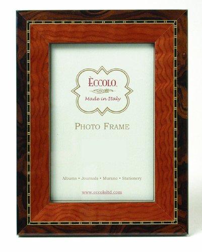 Eccolo 2-Tone Tan Wood Frame, 5 by 7-Inch