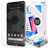 Dome Glass Google Pixel 3 XL Screen Protector Tempered Glass Shield, [Liquid Dispersion Tech] 2.5D Edge of Screen Coverage, Easy Install Kit and UV Light by Whitestone for Google Pixel 3 XL (2018)