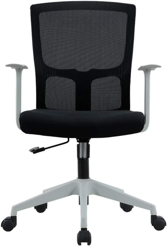 LEOO Silla articulada ergonómica de Malla para Oficina en Negro (Color : Blanco, Tamaño : 102 * 62cm)