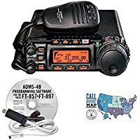 Yaesu FT-857D HF/VHF/UHF 100W Ultra Compact Mobile Transceiver with RT Systems Programming Software and Cable and Ham Guides TM Quick Reference Card Bundle!!