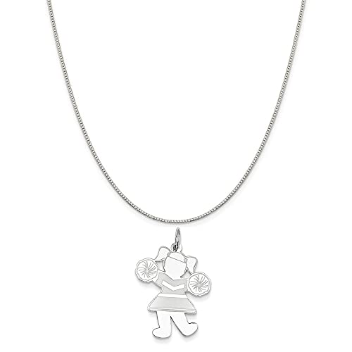 Mireval Sterling Silver Teddy Bear Charm on a Sterling Silver Chain Necklace 16-20