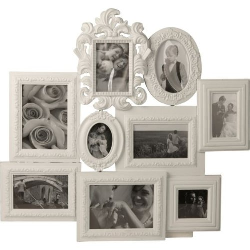 Maxi Living 9 Print Collage Photo Frame - White (Includes Hanging ...