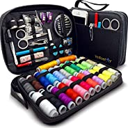 Sewing KIT Premium Repair Set - Complete Needle and Thread Kit for Sewing,Over 100 Supplies & 24-Color Thr