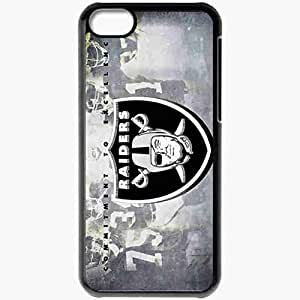 Personalized iPhone 5C Cell phone Case/Cover Skin 1459 oakland raiders Black