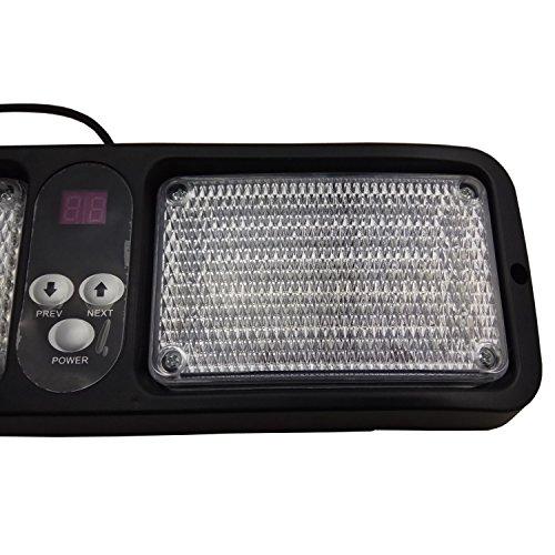White 12 Flashing Pattern 86LED Emergency Warning Sunshield Visor Strobe Light