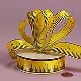 "Yellow Tape Measure Ribbon, 5/8"" X 25 Yards"