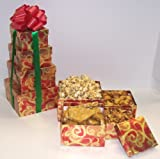 Scott's Cakes 4 Tier Red and Gold Swirl Box Peanut Lovers Surprise
