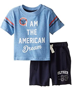 Tommy Hilfiger Baby Boys' Graphic Tee and Drawstring Short Set