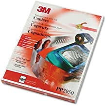(Ship From USA) 3M PP2950 Copier Transparency Film, 8-1/2-Inch X 11-Inch, 100 Per Box, Black on Clear / Color: Clear,Made with a Water-based Coating, 99% Solvent Free,Global Product Type: Transparenc