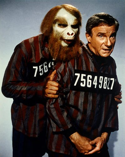 Lost in Space Featuring Jonathan Harris 8x10 Promotional Photograph Fugitives in Space