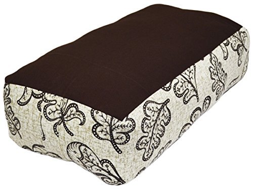Rectangular Leaf - YogaAccessories Supportive Rectangular Cotton Yoga Bolster - Pecan Leaf