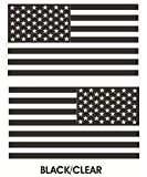 1 Pair Deluxe Fashionable Black-Clear Subdued Flag Stickers Sign Military Home Vinyl Size 8