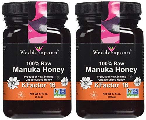 RAW Manuka Honey Active 16+   500g   2 Pack BUNDLE by Wedderspoon (Image #1)