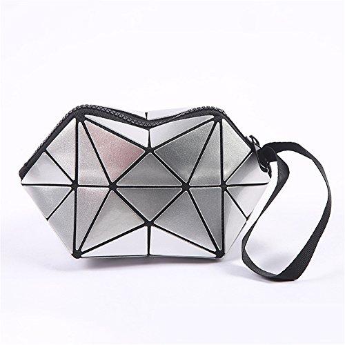 Boîte Stockage Sac De De Maquillage Sacs De Femme silver À Mode Cosmétique De La Bijoux pour ANUAN Organisateur 04Cqq