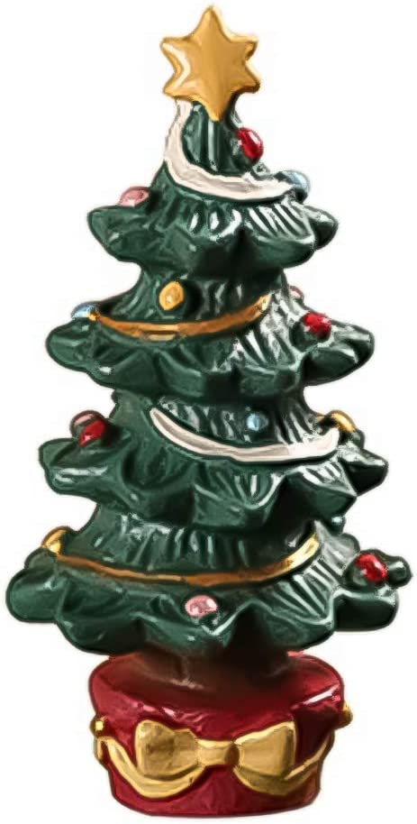 Apofly 1PC Christmas Tree Resin Decor Table Decoration Fish Tank Decorated Christmas Tree Resin Crafts