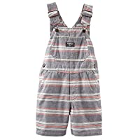 Oshkosh Bgosh Baby Boy Gray Striped Shortalls (9 months)