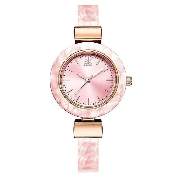 Relojes Mujer con Estrecha Colorful Reloj de la Pulsera, Escala del Clavo Elegantes Relojes de