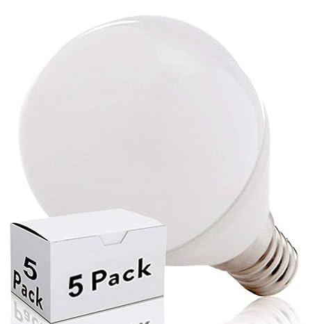 Greenice | Pack 5 Bombilla LED E14 2835SMD 7W 520Lm 30.000H | Blanco Cálido