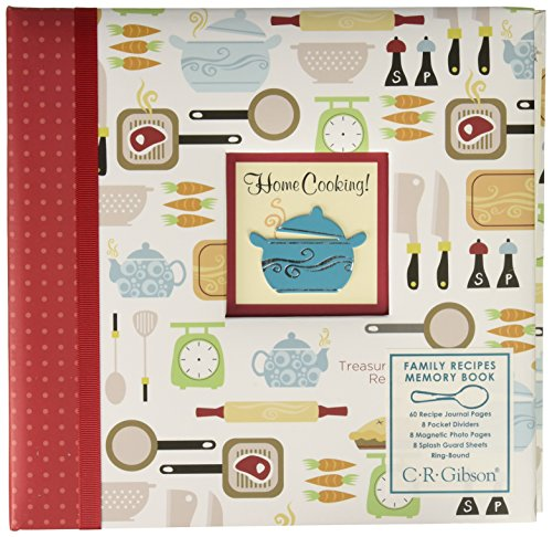 CR Gibson Family Recipe Memory Book, Home Cooking Design