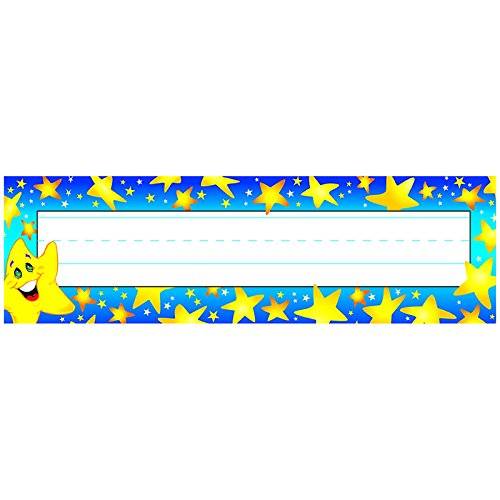TREND enterprises, Inc. Super Stars Desk Toppers Name Plates, 36 ct (Trend Strips)