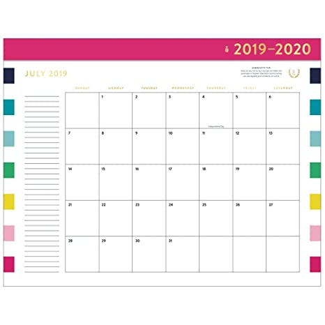 Amazon com : Simplified 2019-2020 Academic Year Monthly Desk Pad
