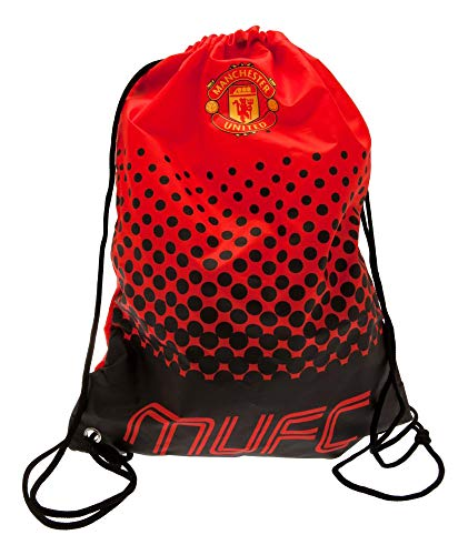 - Manchester United F.C. Gym Bag Official MUFC Drawstring Bag 2016/17 - Red/Black