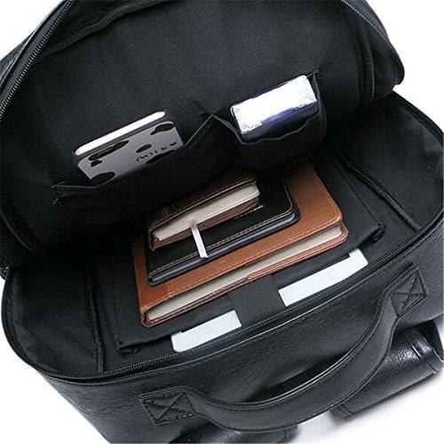 OURBAG dos Noir hommes ordinateur noir Sac sac dos à sac sac à Vintage bandoulière bandoulière Noir Moyen portable à à rExq1Twr