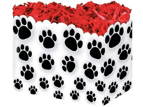 1 Large PAW Prints Animal Dog Puppy Gift Basket Box 10-1/4 X 6 X 7-1/2 NAS 5225780