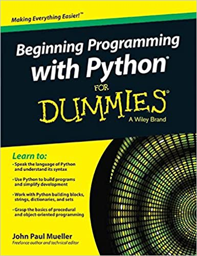 Buy Beginning Programming With Python For Dummies Book Online At Low