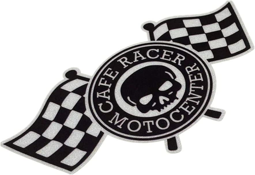 2PCS Car Styling Vinyl Bumper Bike Motorcycle Guitar Laptop DIY Decorate Sticker for Skull Cafe Racer 12x6.2cm