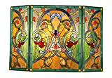 Chloe Lighting Myrtle, Tiffany-Style Victorian 3pcs Folding Fireplace Screen 44×28 Review