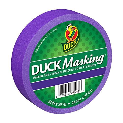 Duck Masking 240880 Purple Color Masking Tape, .94-Inch by 30 Yards