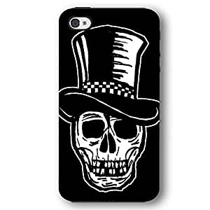 Skull with Top Hat iPhone 4 and iPhone 4S Armor Phone Case