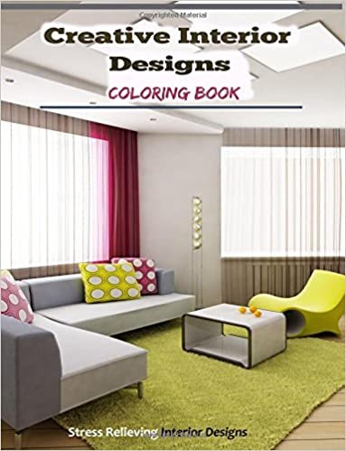 Amazon Creative Interior Designs Adult Coloring Books Featuring Stress Relieving 9781519154392 Harry Potter