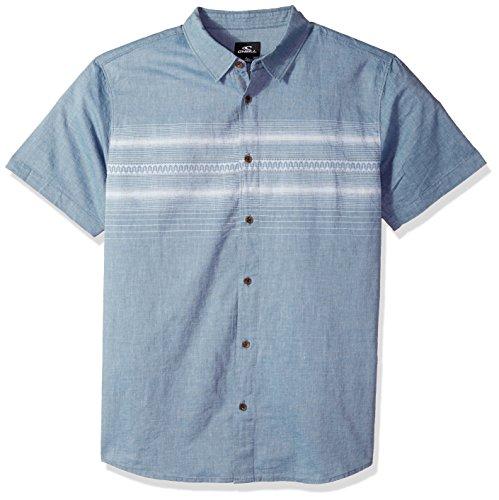 ONeill Mens Standard Fit Chest Stripe Short Sleeve Woven