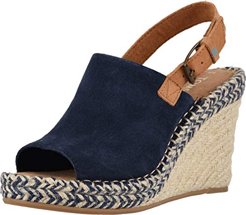 TOMS Women's Monica Navy Suede/Leather 8.5 B US ()