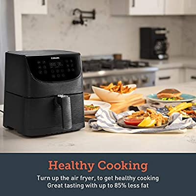 COSORI Air Fryer(100 Recipes),5.8Qt Electric Hot Air Fryers Oven Oilless Cooker,11 Cooking Presets,Preheat&Shake Reminder,LED Digital Touchscreen,Nonstick Basket,ETL/UL Certified,2-Year Warranty,1700W