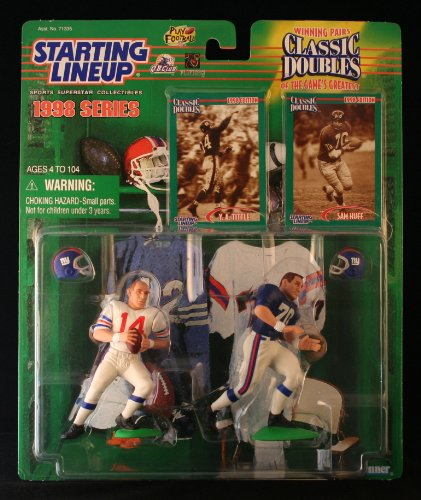 (1 X 1998 Y.A. Tittle and Sam Huff NFL Classic Doubles Starting Lineup Figures)