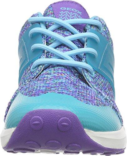 Geox J Asteroid Girl B - Zapatillas para niñas Multicolor (Violet / Watersea)